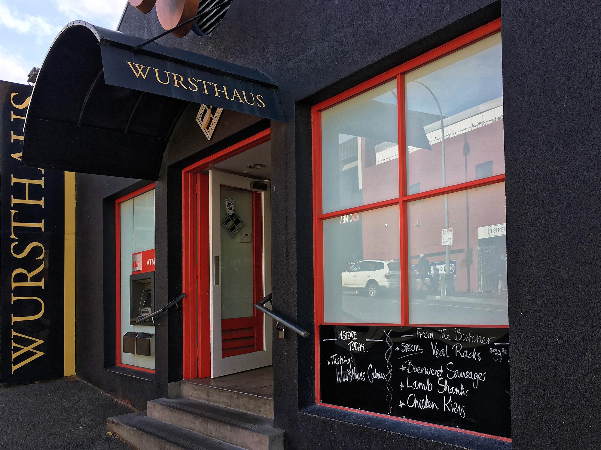 "<p style=""color:white"">Wursthaus Kitchen</p>"