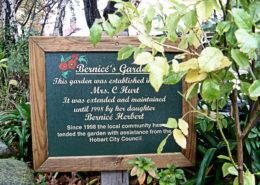 Sign in Bernice's Garden