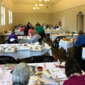 Working in the community hall