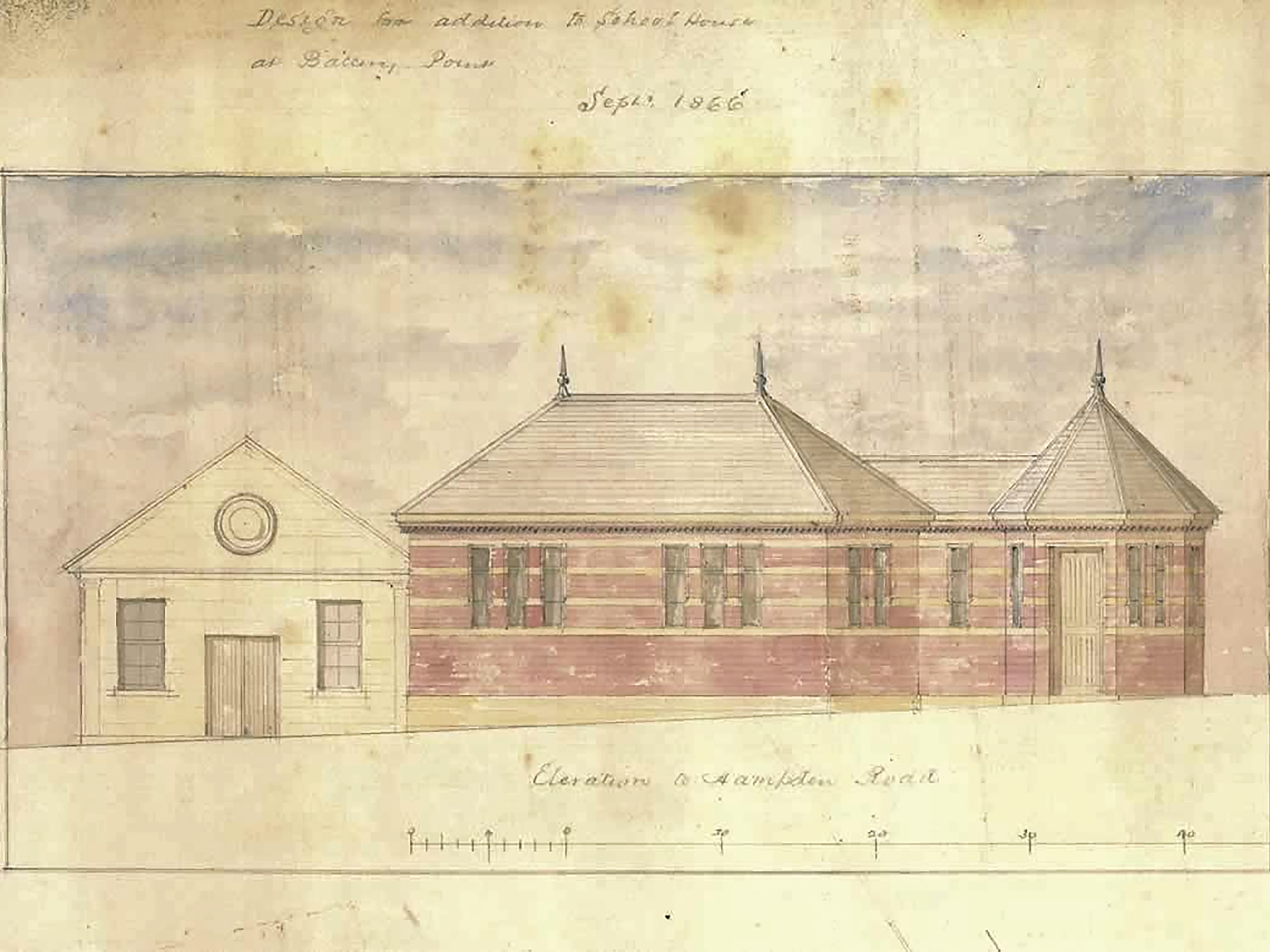 Early plans of hall