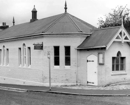 Early photo of hall
