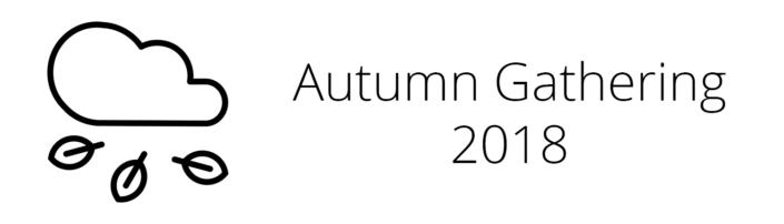 Autumn gathering 2018
