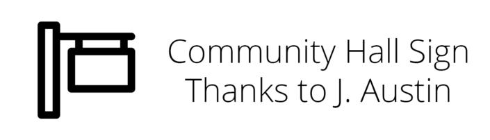 Community Hall Sign Thanks