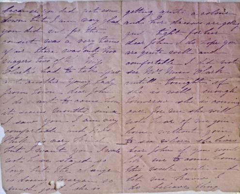 Letter from Esther Harrington