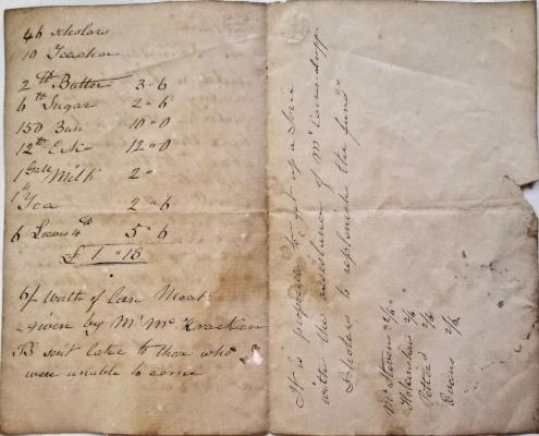 Boxing Day 1865 memo