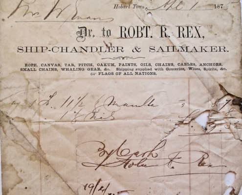 Receipt for manila rope and nails