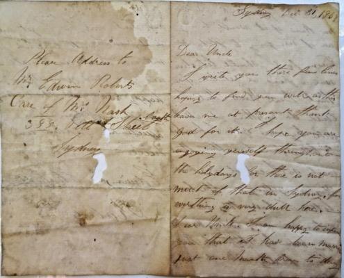 Letter to William Evans