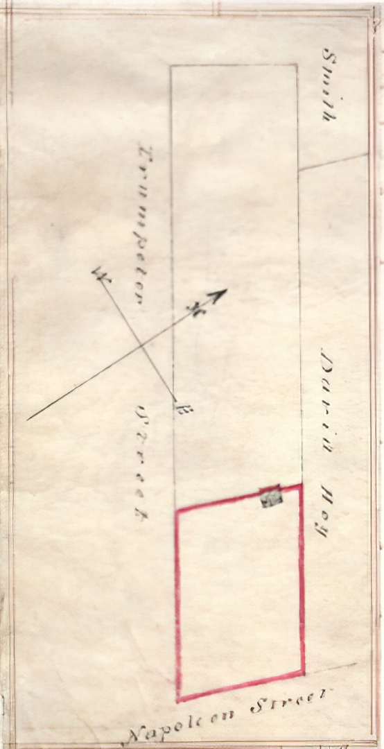 Excerpt from a conveyance document between Thomas & Mary Harbottle and John & Mary Watson in 1849