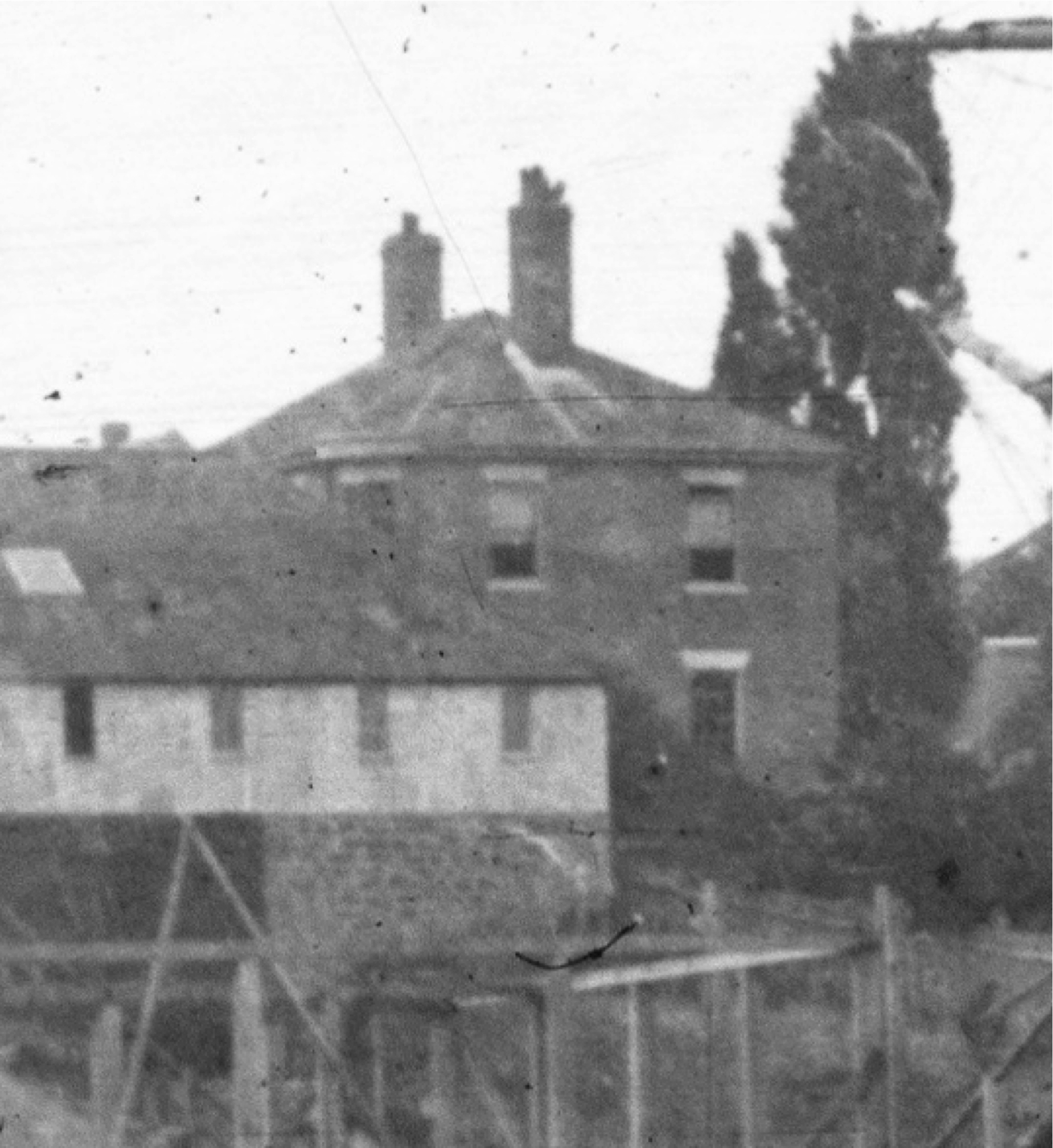 Excerpt from a photograph of a Battery Point Slipyard (1890) showing No. 1 Sloane Street