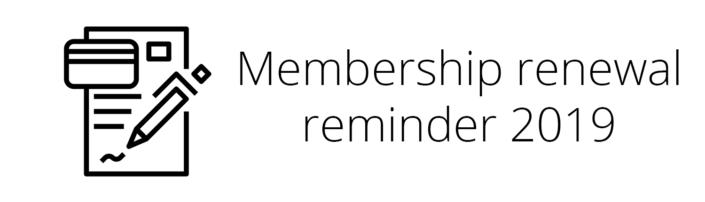 Renewal Reminder 2019