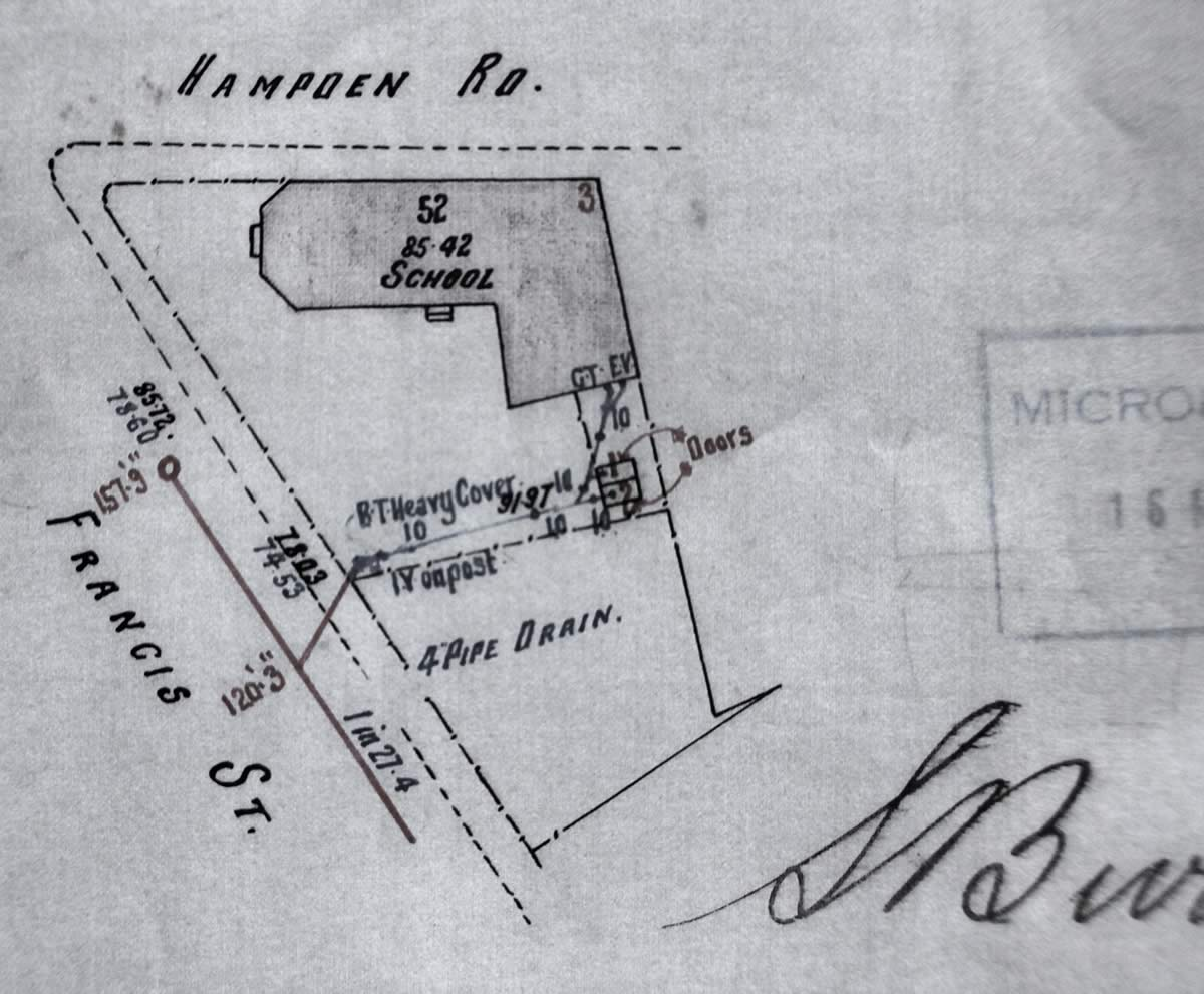 Battery Point Hall Plan 1911