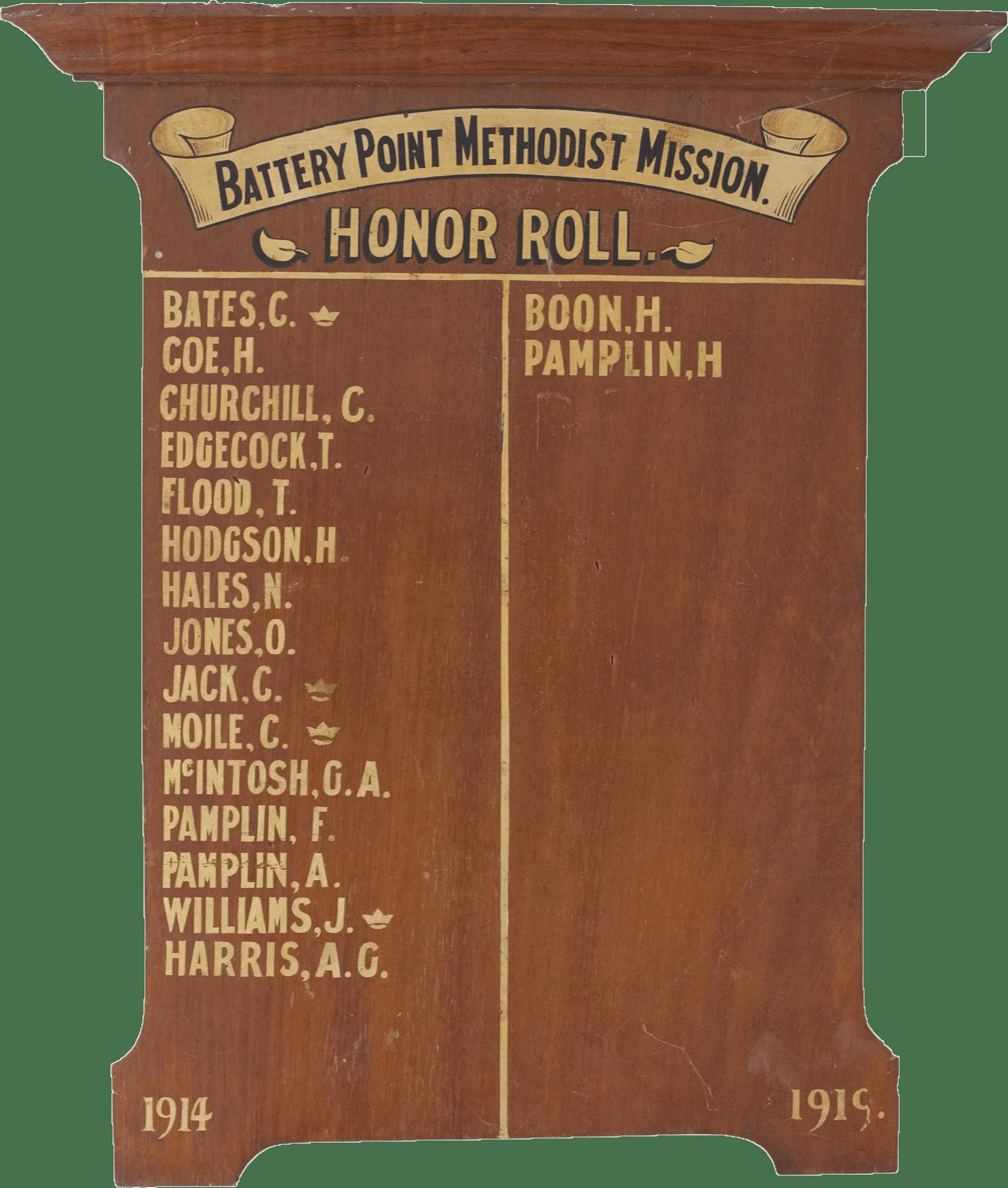 WW1 Memorial Board