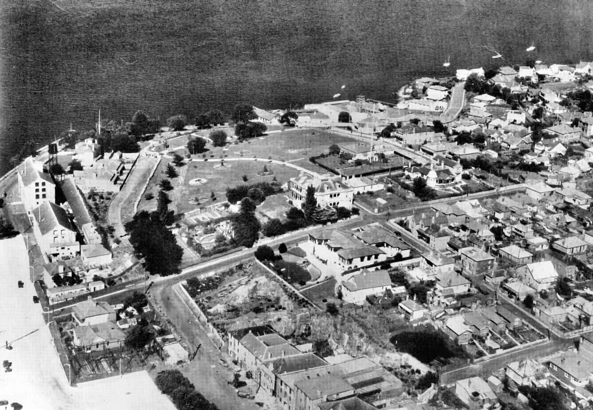 Princes Park aerial photo c1942