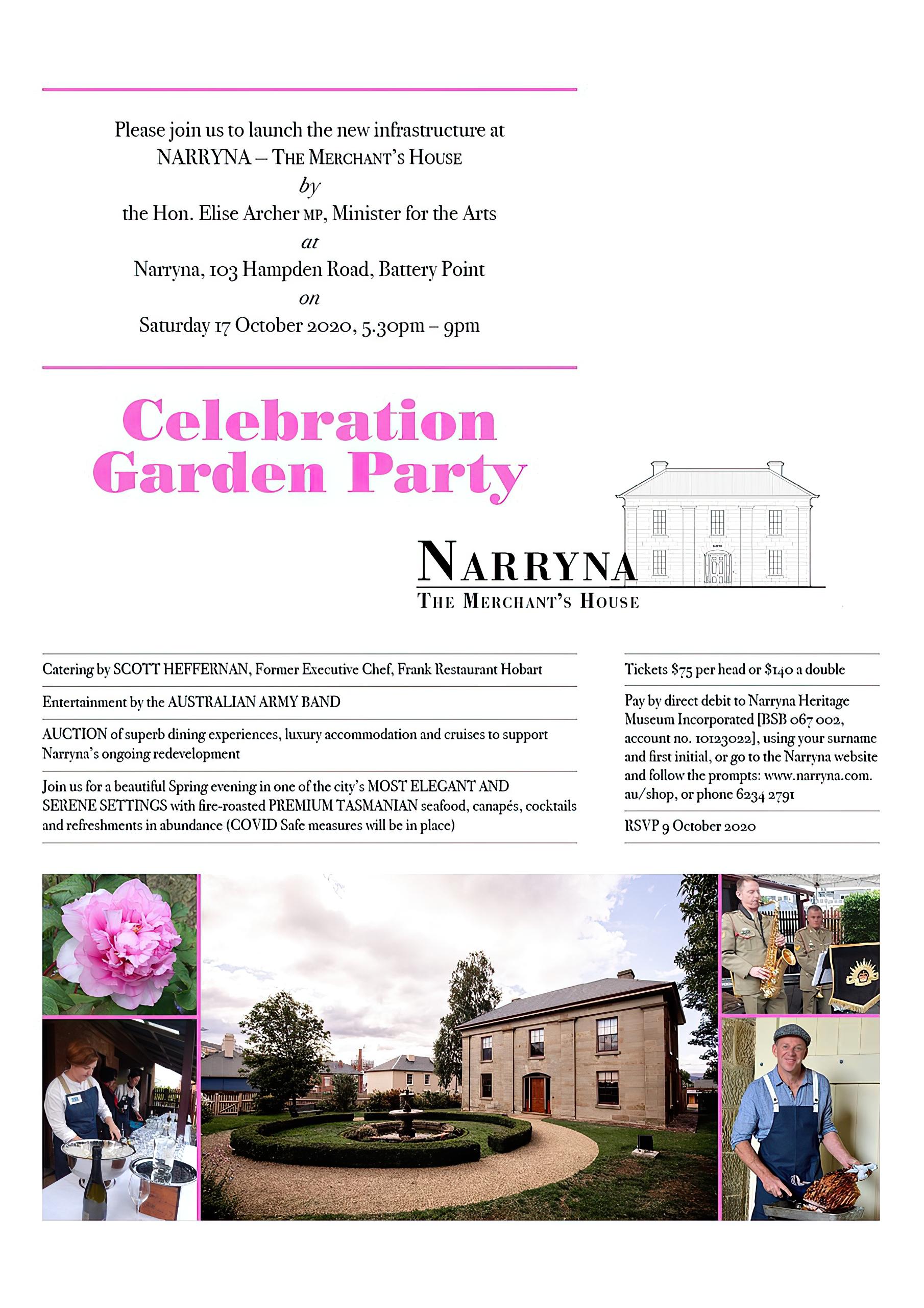 Narryna Garden Party Invitation