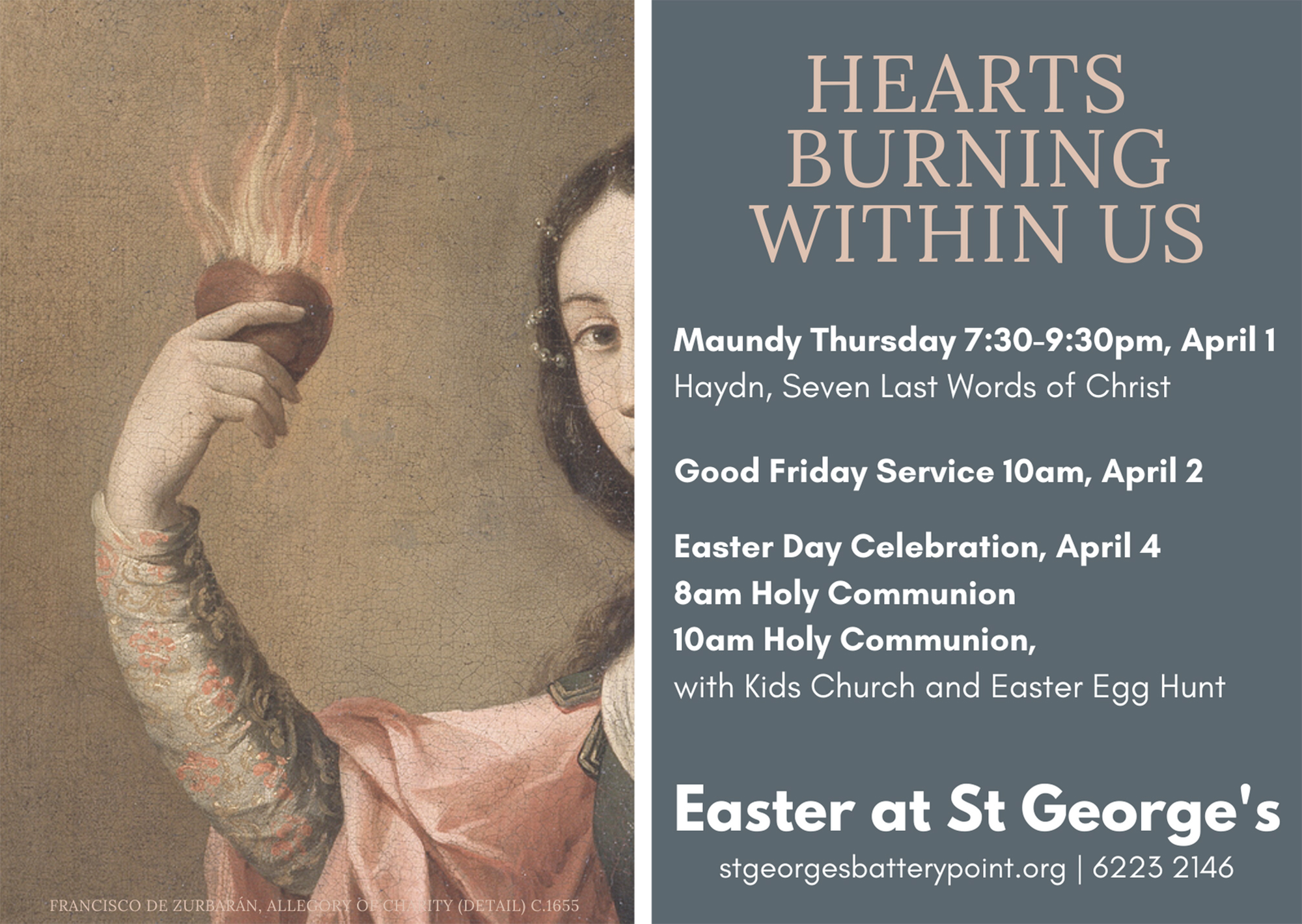 Easter at St George's 2021 Poster