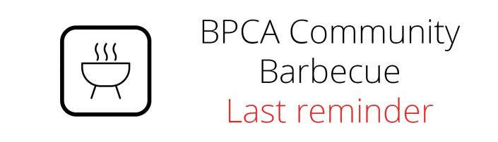 Community Barbecue Last Reminder