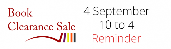 Book Clearance Sale Reminder